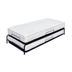 Łóżko z dostawką, metalowe