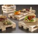 Podstawki pod żywność, drewniane.